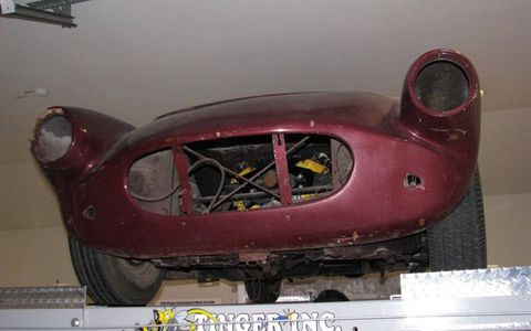 The nose of the No. 1 Cunningham Corvette.