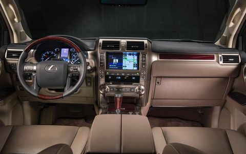 The interior gets a few new items, like a larger screen, and perforated leather in the Luxury model