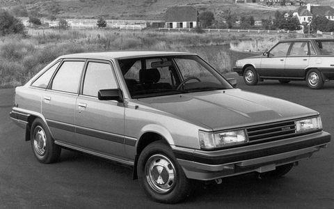 A 1984 Toyota Camry liftback and sedan