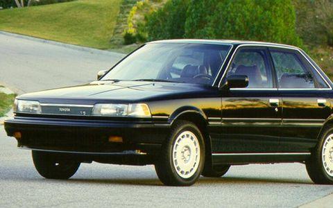 A 1987 Toyota Camry sedan