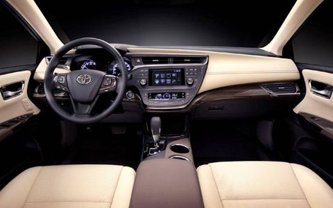 An interior look at the 2013 Toyota Avalon