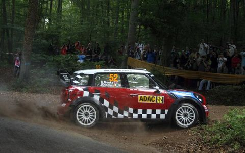 Kris Meeke in his Mini WRC during Rally Deutschland Aug. 18-21. Photo by: McKlein/LAT Photographic