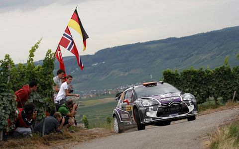 The Citroen DS3 WRC of Peter Van Merksteijn Jr during the WRC rally in Germany. Photo by: McKlein/LAT Photographic