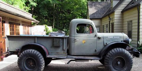 """This Dodge Power Wagon is one of the rare """"swivel frame"""" versions that features an articulated rear bed."""