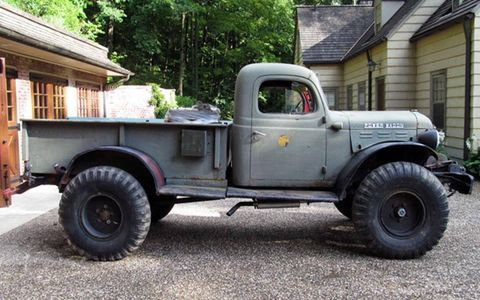"This Dodge Power Wagon is one of the rare ""swivel frame"" versions that features an articulated rear bed."