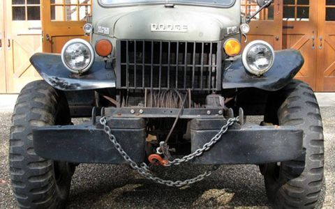 The winch doesn't pull the vehicle out of sticky situations -- it pulls the world towards it.