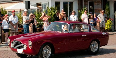"""Don Williams' 1954 2/4 Allemano Coupe carried the """"Aston Martin"""" class a last year's Kirkland Concours d'Elegance. Anglophiles can enjoy similar vehicles entered in this year's """"British Invasion"""" class."""