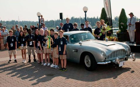 """The show's """"Junior Judges"""" selected this 1963 Aston Martin DB5 """"Goldfinger"""" owned by Harry Yeggy."""