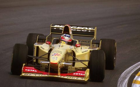 Interlagos, Brazil. 29-31 March 1996. Rubens Barrichello (Jordan 196 Peugeot) failed to finish after he spun off on lap 59.