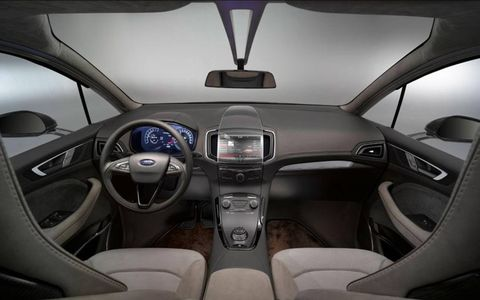 In addition to concept car touches like carbon fiber trim, the S-Max boasts advanced technology that can monitor vehicle occupants' heart rate and blood glucose levels.