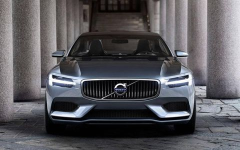 Volvo has revealed images of its Concept Coupé ahead of the 2013 Frankfurt motor show.