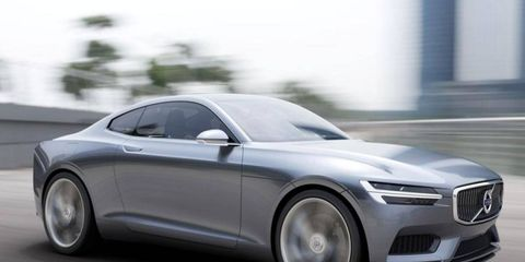 The Volvo concept coupe appeared at the Frankfurt auto show in 2013; similar lines may arrive on a Polestar coupe this September.
