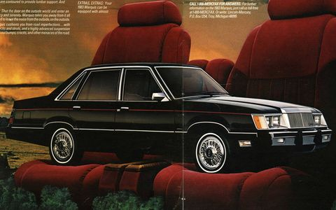 For 1983, the Marquis was on the same Fox platform as the Mustang, while the Grand Marquis was on the larger Panther platform.
