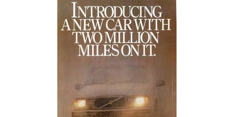 There may be a few Volvo 760s with 2,000,000 miles on the clock by now, 33 years later.