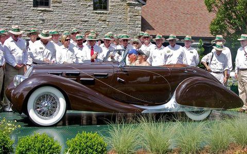 Judges' Choice: 1937 Delahaye M-135 Cabriolet.