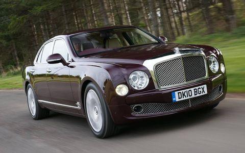 Bentley Mulsanne at speed in Scotland.