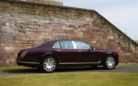 Classic lines of the Bentley Mulsanne.