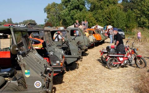 The event featured a wide range of European off-road vehicles.