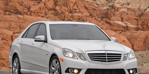 The 30.3 mpg fuel reading I achieved on my fill-up is the big deal about the Bluetec version of the 2012 Mercedes-Benz E350. Returning more than 30 mpg is something very few luxury cars on the market today will deliver. - Executive Editor Roger HartA model year 2011 is shown.