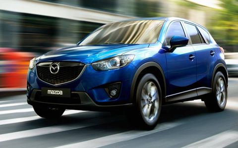 A side view of the 2013 Mazda CX-5