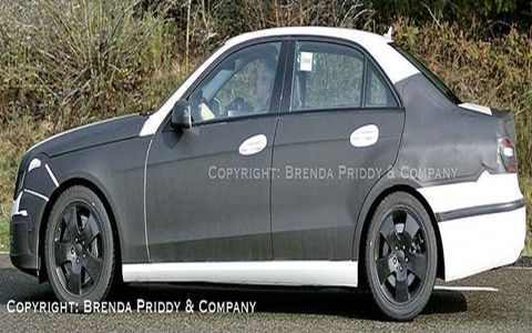 Prototype of next Mercedes E-Class.