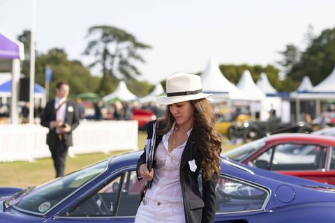 Another judge at Salon Prive.