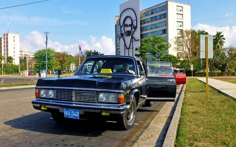 The GAZ 14 Chaika was in Cuba's government garage for the last 25 odd years.