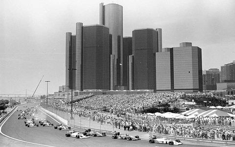 The Formula One circus makes its final appearance in the Motor City in June 1988. Detroit's Renaissance Center provided a majestic backdrop for the event since it began in 1982.