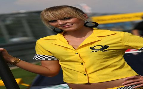 Grid girls from last weekend's races in the DTM Championship in Germany.