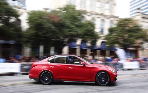 A German guy, from an Austrian company, drives a Japanese sedan named after a Belgian racetrack down a Texas street.