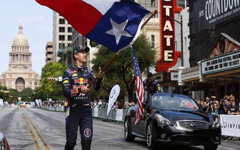 Vettel digs Texas, decides to stay a while.