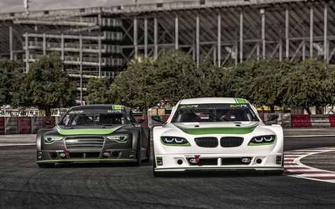 The idea with the EXR Racing Series was to make racing more accessible to more people. Any resemblence of the cars to, say, BMWs or Audis is purely coincidental.