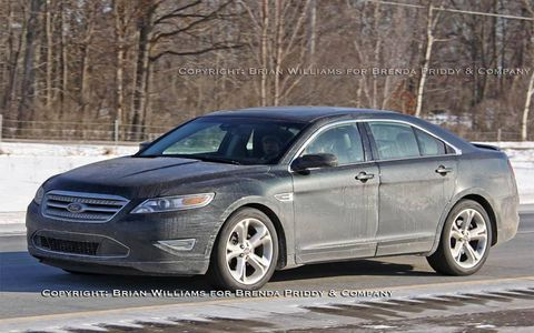 From the side--there's little difference with the regular Taurus.