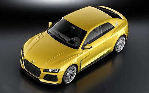 Audi revealed the Quattro concept at the Frankfurt motor show.