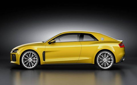 The Audi Quattro pays homage to the 1980s road and rally car.