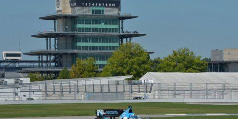 Graham Rahal tests IndyCar road course.