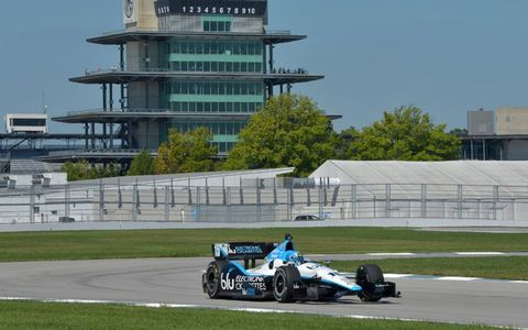 Graham Rahal tests IndyCar road course.