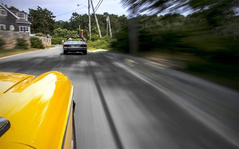 The MGB's still got it where it counts, especially on twisty roads.
