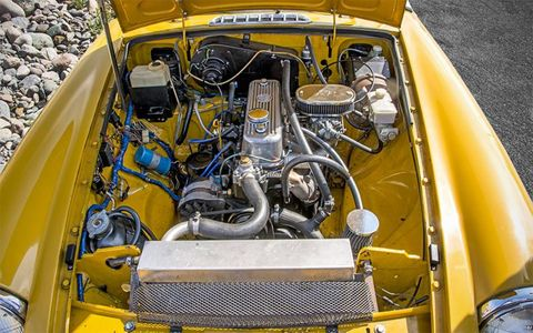 Everything underhood has been dialed up a bit, with the car now making close to double the factory horsepower from its original engine.