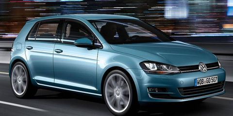 The redesigned Volkswagen Golf arrives in U.S. showrooms in fall 2013.