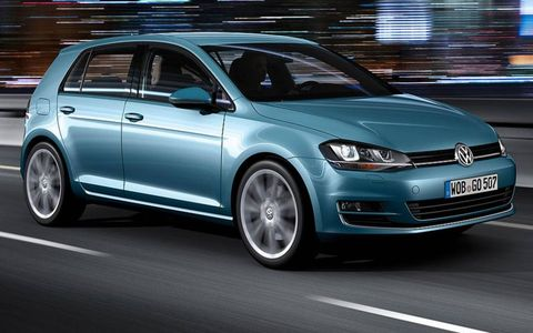 The redesigned Volkswagen Golf arrives in U.S. showrooms in fall 2013.
