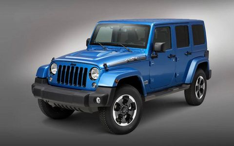 The Jeep Wrangler Polar Express gets a selection of Mopar accessories.