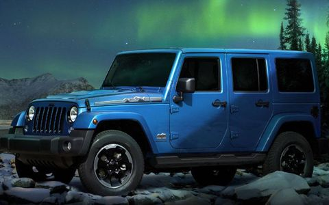 Two engines will be offered in the The Jeep Wrangler Polar Express, a 2.8-liter diesel and a 3.6-liter gas-powered V6.
