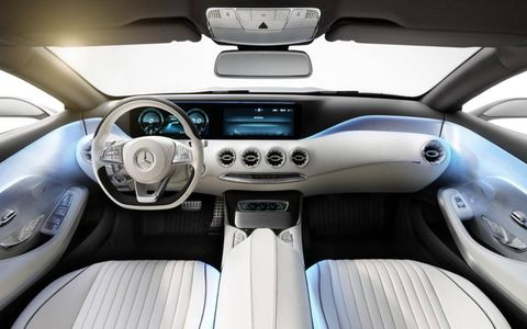 The interior changes are more than subtle in the Mercedes-Benz Concept coupe.