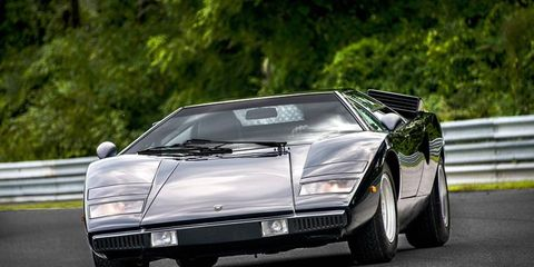 Arguably the best looking version of the Countach, and in a color that suits it well.