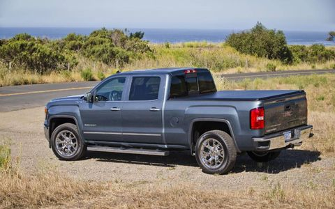 The 2014 GMC Sierra 1500 comes in at a base price of $44,420 with out tester topping off at $49,855.