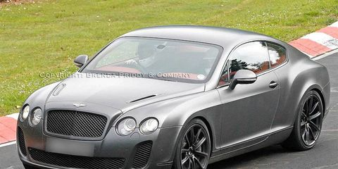 The Bentley Continental Supersports is shown lapping the Nurburgring.