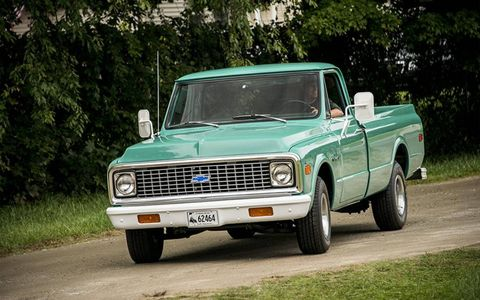 A nice original truck, in a color we don't see often. Restored of course, but with low miles.