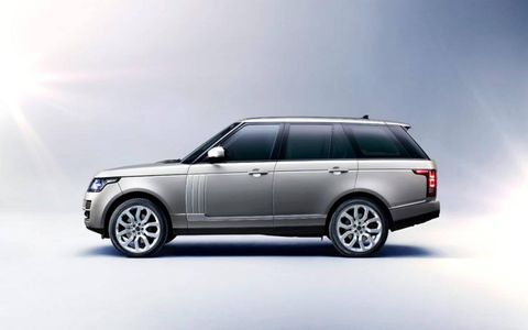 The 2013 Land Rover Range Rover is slightly lower than its predecessor but still maintains the model's classic lines.