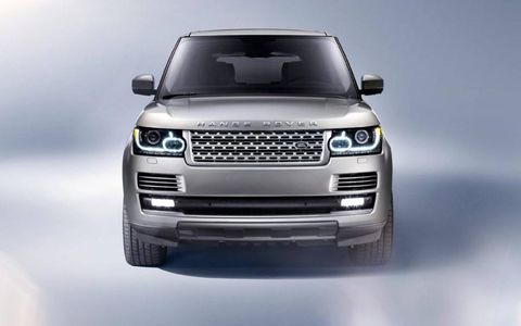 The front of the 2013 Range Rover will be familiar to fans of the brand.